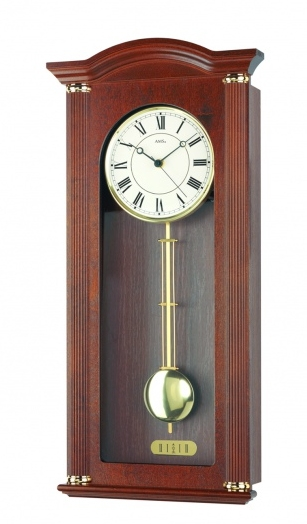 Nástěnné kyvadlové hodiny 5014/1 AMS 64cm řízené rádiovým signálem DCF + prodloužená záruka 3 roky