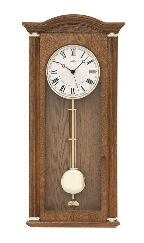 Nástěnné kyvadlové hodiny 5014/4 AMS 64cm řízené rádiovým signálem DCF + prodloužená záruka 3 roky