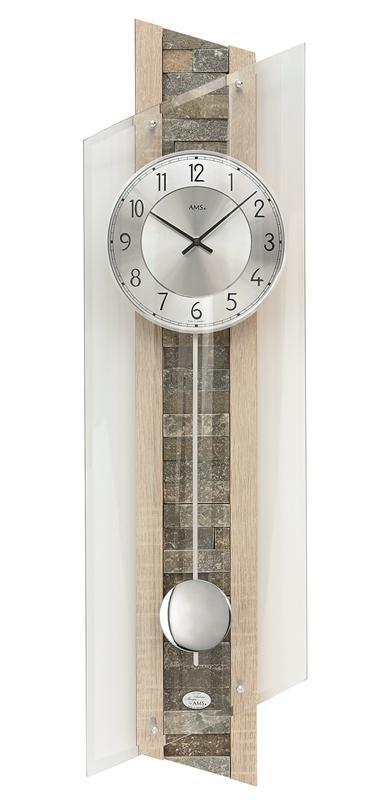 Kyvadlové nástěnné hodiny 5224 AMS řízené rádiovým signálem 85cm + prodloužená záruka 3 roky