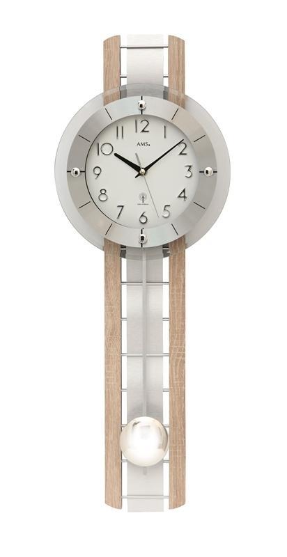 Kyvadlové nástěnné hodiny 5282 AMS řízené rádiovým signálem 68cm + prodloužená záruka 3 roky