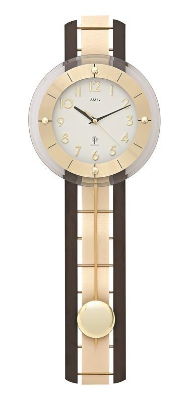 Kyvadlové nástěnné hodiny 5282/1 AMS řízené rádiovým signálem 68cm + prodloužená záruka 3 roky