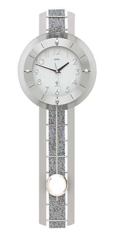 Kyvadlové nástěnné hodiny 5284 AMS řízené rádiovým signálem 68cm + prodloužená záruka 3 roky