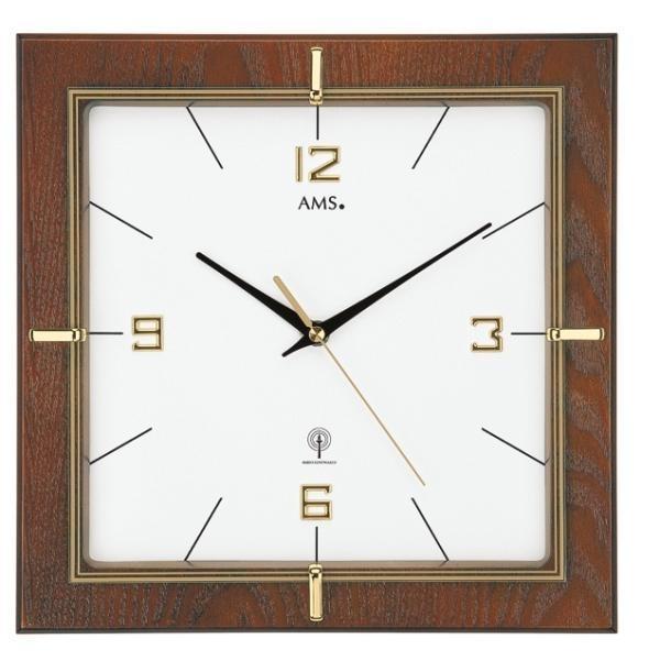 Nástěnné hodiny 5834 AMS řízené rádiovým signálem 29cm + prodloužená záruka 3 roky