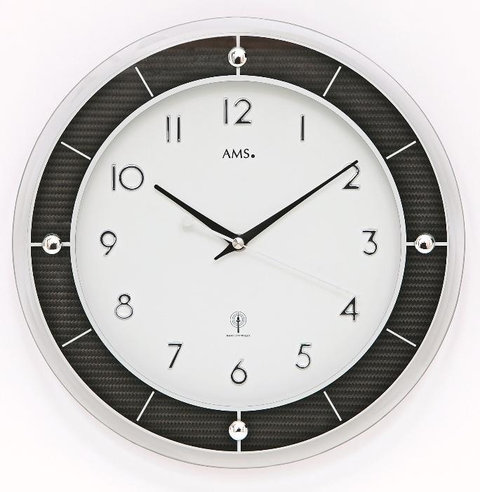 Nástěnné hodiny 5854 AMS řízené rádiovým signálem 31cm + prodloužená záruka 3 roky
