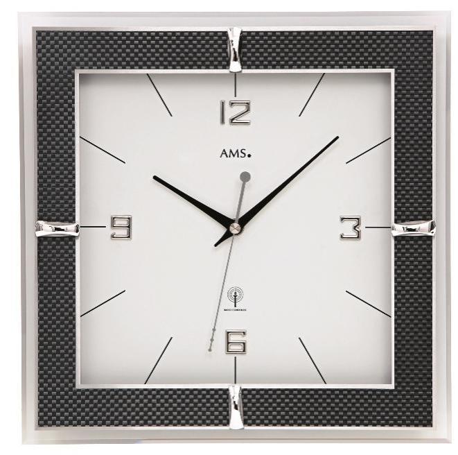 Nástěnné hodiny 5855 AMS řízené rádiovým signálem 30cm + prodloužená záruka 3 roky