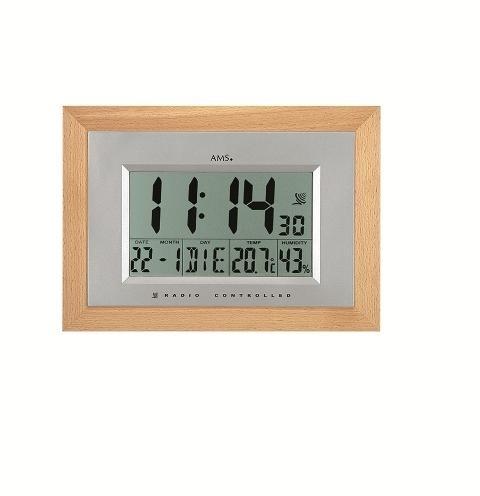 Digitální nástěnné hodiny 5892/18 AMS řízené rádiovým signálem 31cm + prodloužená záruka 3 roky