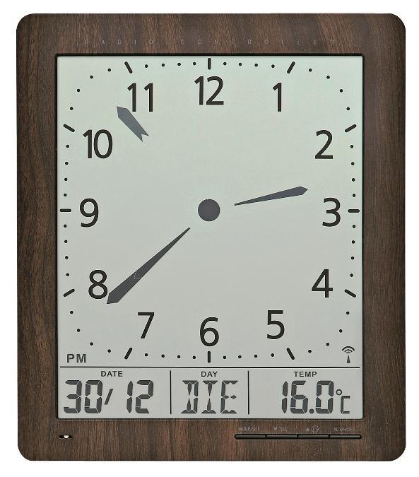 Digitální nástěnné i stolní hodiny 5893 AMS řízené rádiovým signálem 24cm + prodloužená záruka 3 roky