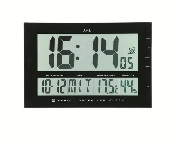 Digitální nástěnné hodiny 5895 AMS řízené rádiovým signálem 43cm + prodloužená záruka 3 roky