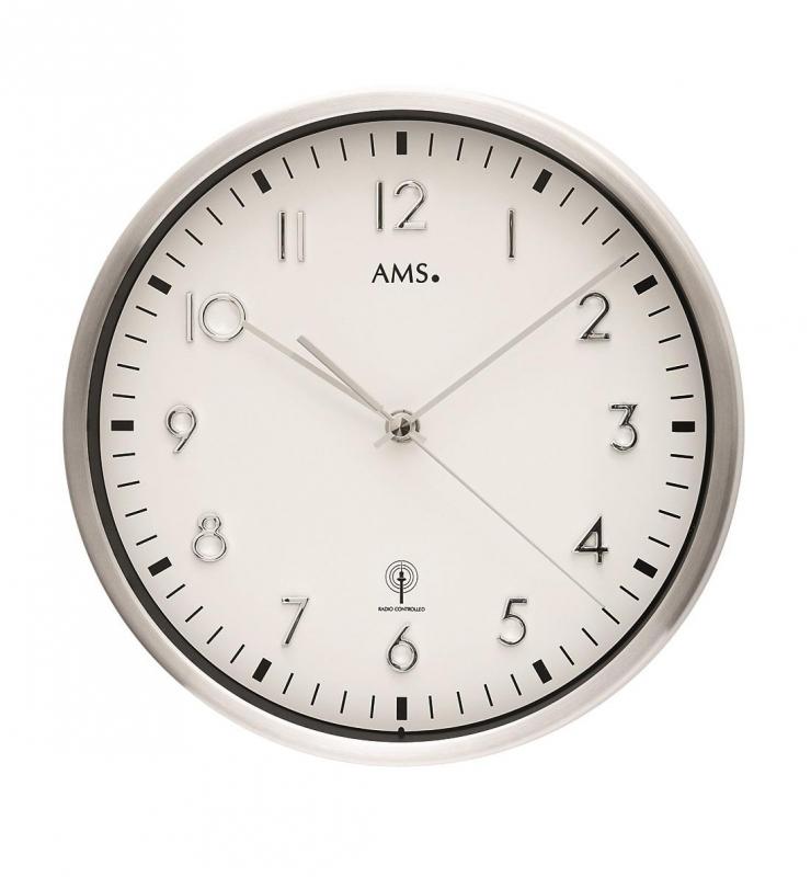Nástěnné hodiny 5912 AMS řízené rádiovým signálem 25cm + prodloužená záruka 3 roky