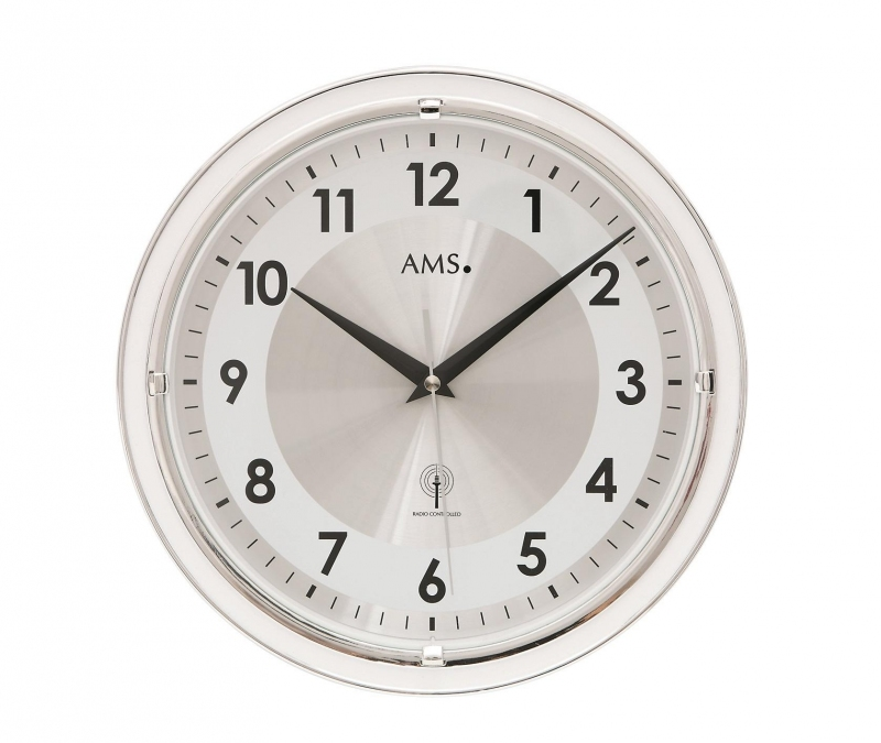 Nástěnné hodiny 5945 AMS řízené rádiovým signálem 30cm + prodloužená záruka 3 roky