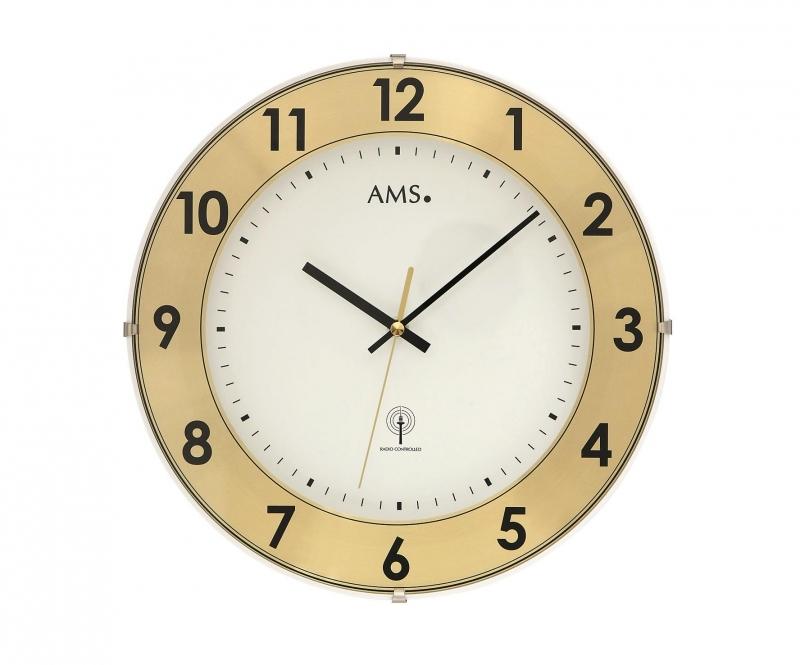 Nástěnné hodiny 5947 AMS řízené rádiovým signálem 30cm + prodloužená záruka 3 roky