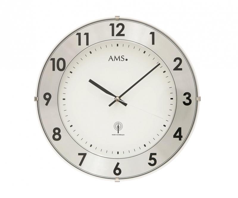 Nástěnné hodiny 5948 AMS řízené rádiovým signálem 30cm + prodloužená záruka 3 roky
