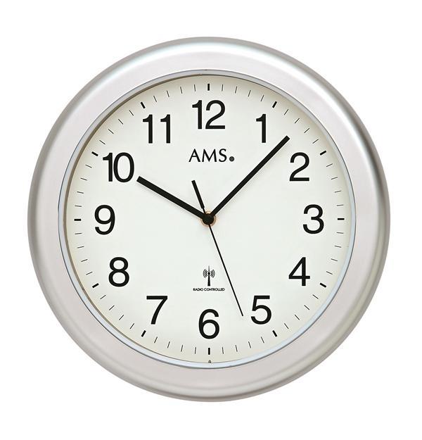 Nástěnné hodiny 5956 AMS řízené rádiovým signálem 30cm + prodloužená záruka 3 roky