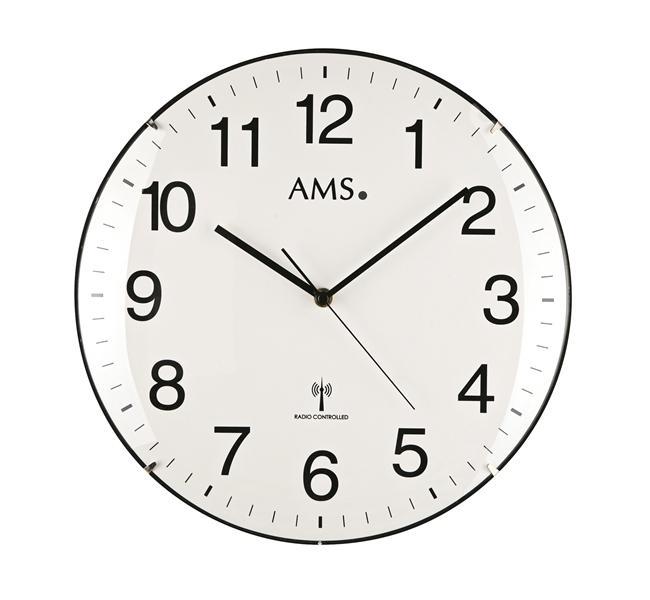 Nástěnné hodiny 5960 AMS řízené rádiovým signálem 32cm + prodloužená záruka 3 roky