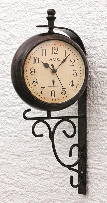 Nástěnné hodiny s teploměrem 5961 AMS řízené rádiovým signálem 38cm + prodloužená záruka 3 roky