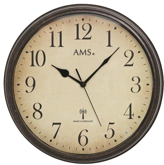 Nástěnné hodiny 5962 AMS řízené rádiovým signálem 32cm + prodloužená záruka 3 roky