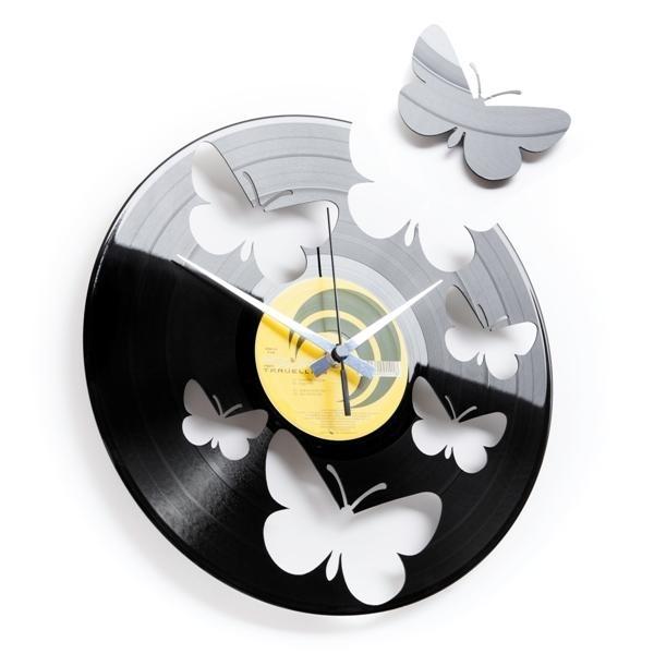 Designové nástěnné hodiny Discoclock 056 Motýli 30cm + prodloužená záruka 3 roky