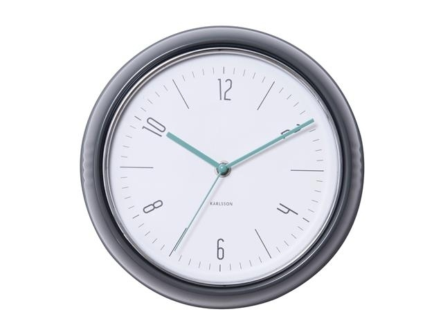 Designové nástěnné retro hodiny 5525GY Karlsson 25cm + prodloužená záruka 3 roky