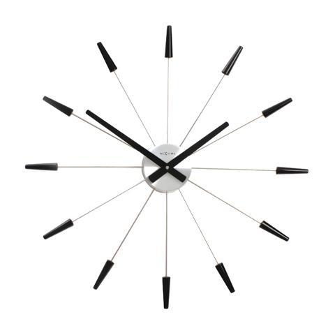 Designové nástěnné hodiny 2610zw Nextime Plug Inn černé 60cm + prodloužená záruka 3 roky