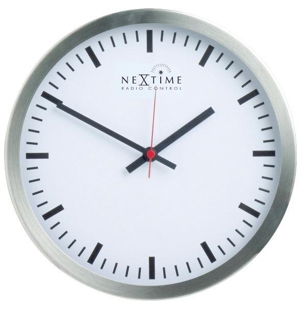 Designové nástěnné hodiny řízené signálem DCF 2707 Nextime Radio Control 44cm + prodloužená záruka 3 roky