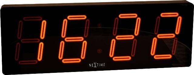 Designové nástěnné digitální LED hodiny 3059 Nextime Big D 52cm + prodloužená záruka 3 roky