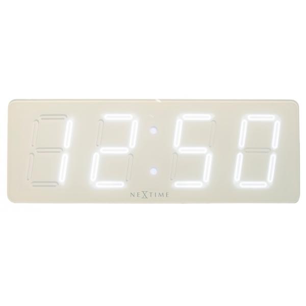 Designové nástěnné digitální LED hodiny 3059wi Nextime White D 52cm + prodloužená záruka 3 roky