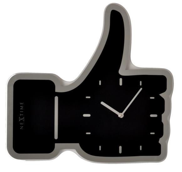Designové nástěnné hodiny 3072zw Nextime Facebook Like 42cm + prodloužená záruka 3 roky
