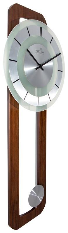 Designové nástěnné hodiny řízené signálem DCF 3143 Nextime Retro Pendulum Round 80 cm + prodloužená záruka 3 roky