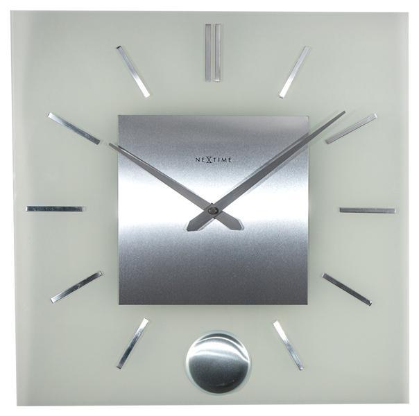 Designové nástěnné hodiny 3146 Nextime Stripe Pendulum Square 40cm + prodloužená záruka 3 roky