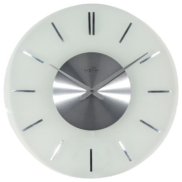Designové nástěnné hodiny řízené signálem DCF 3147 Nextime Stripe 40cm + prodloužená záruka 3 roky