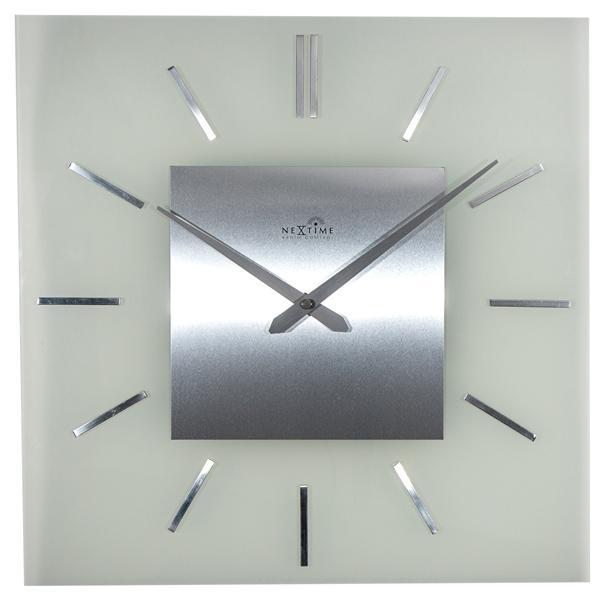 Designové nástěnné hodiny řízené signálem DCF 3148 Nextime Stripe Square 40cm + prodloužená záruka 3 roky
