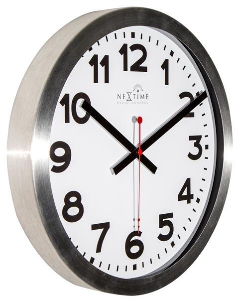 Designové nástěnné hodiny řízené signálem DCF 3999arrc Nextime Station Number 35cm + prodloužená záruka 3 roky