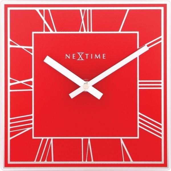 Designové nástěnné hodiny 5184ro Nextime Square 20cm + prodloužená záruka 3 roky
