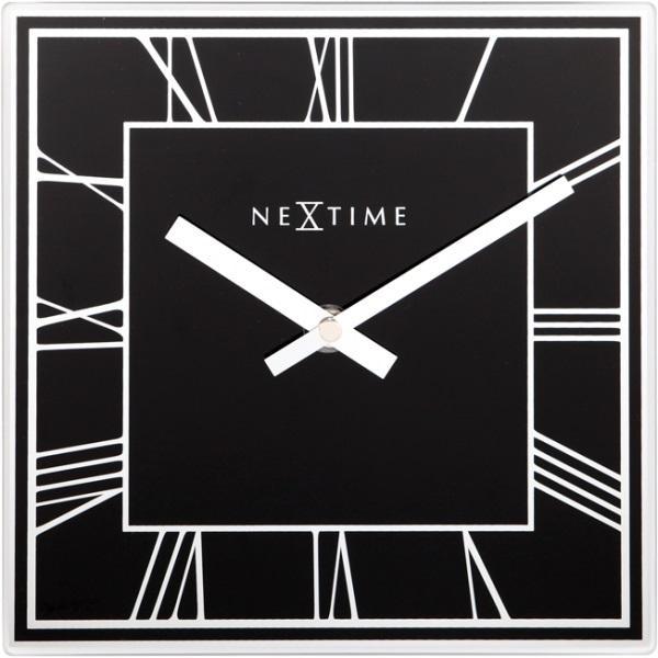 Designové nástěnné hodiny 5184zw Nextime Square 20cm + prodloužená záruka 3 roky