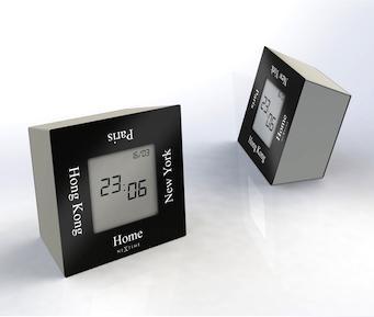 Designové stolní digitální hodiny 5190zw Nextime Turn4Time 8cm + prodloužená záruka 3 roky