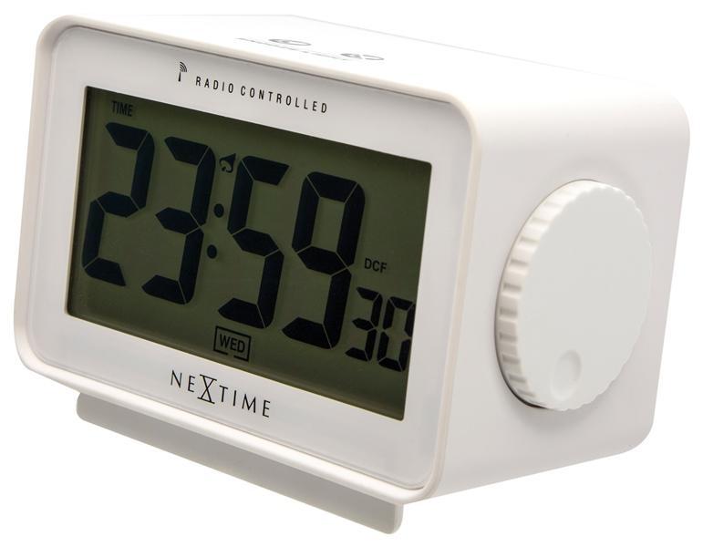 Designové stolní digitální hodiny řízené signálem DCF 5202wi Nextime Easy Alarm 13cm + prodloužená záruka 3 roky