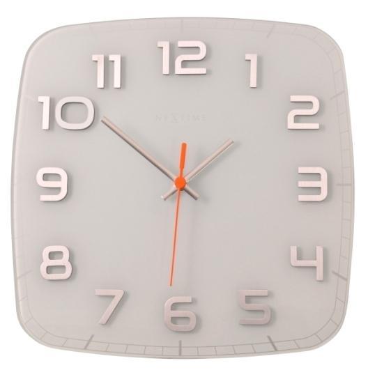 Designové nástěnné hodiny 8816wi Nextime Classy square 30cm + prodloužená záruka 3 roky