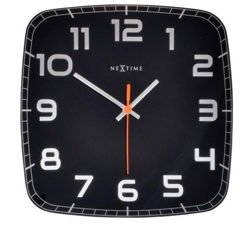 Designové nástěnné hodiny 8816zw Nextime Classy square 30cm + prodloužená záruka 3 roky
