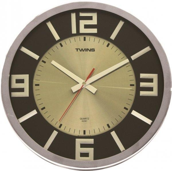 Nástěnné hodiny Twins 2361 wenge wood 32cm + prodloužená záruka 3 roky