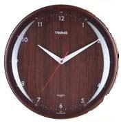 Nástěnné hodiny Twins 408 wenge numbers 31cm + prodloužená záruka 3 roky