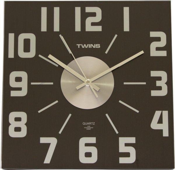 Nástěnné hodiny Twins 468 wenge 32cm + prodloužená záruka 3 roky