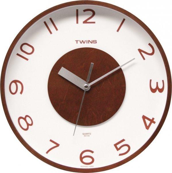 Nástěnné hodiny Twins 5144 wenge 30cm + prodloužená záruka 3 roky