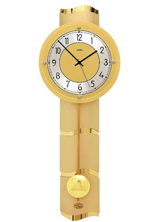 Luxusní kyvadlové nástěnné hodiny 5211 AMS řízené rádiovým signálem 66cm + prodloužená záruka 3 roky