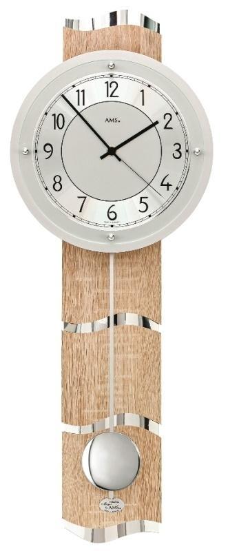 Luxusní kyvadlové nástěnné hodiny 5214 AMS řízené rádiovým signálem 66cm + prodloužená záruka 3 roky