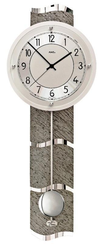 Luxusní kyvadlové nástěnné hodiny 5216 AMS řízené rádiovým signálem 66cm + prodloužená záruka 3 roky