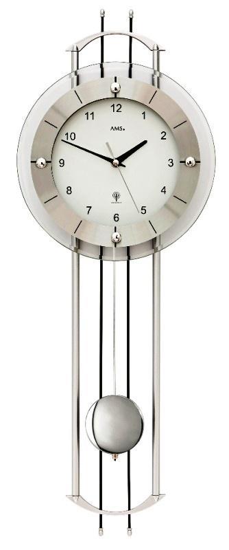Luxusní kyvadlové nástěnné hodiny 5248 AMS řízené rádiovým signálem 68cm + prodloužená záruka 3 roky