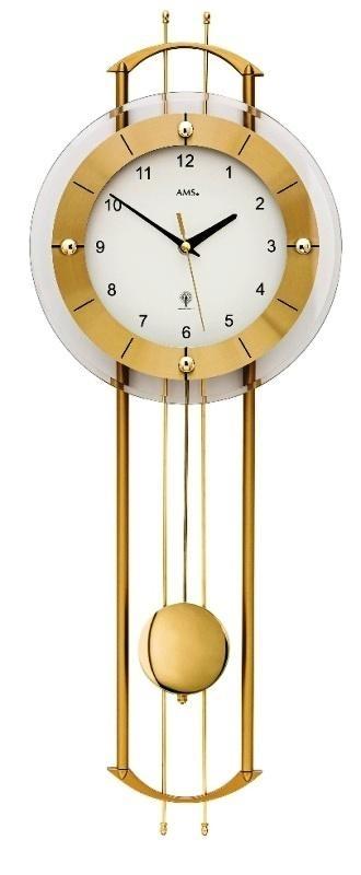 Luxusní kyvadlové nástěnné hodiny 5257 AMS řízené rádiovým signálem 68cm + prodloužená záruka 3 roky