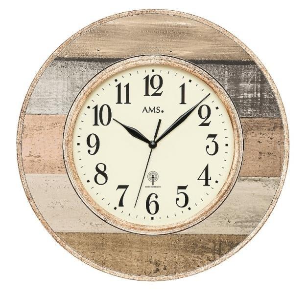Nástěnné hodiny 5975 AMS řízené rádiovým signálem 35cm + prodloužená záruka 3 roky