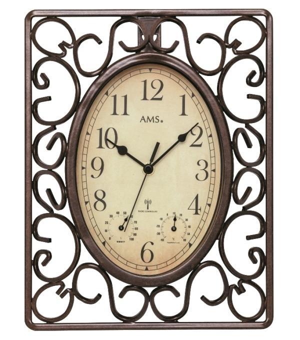 Nástěnné hodiny 5976 AMS řízené rádiovým signálem 31cm + prodloužená záruka 3 roky