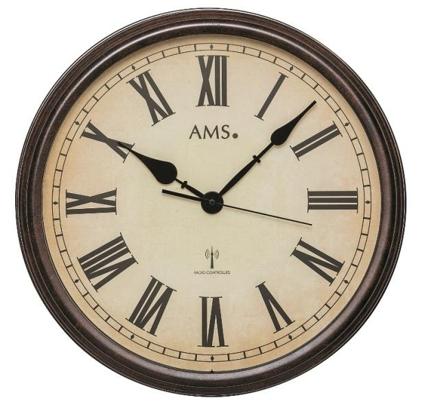 Nástěnné hodiny 5977 AMS řízené rádiovým signálem 42cm + prodloužená záruka 3 roky